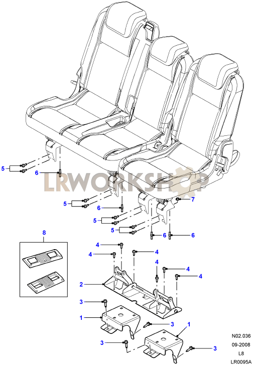 second row seat mounting - 110130 sw and crew cab