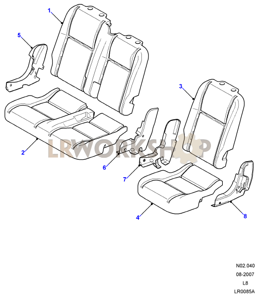 second row seat pads and valances