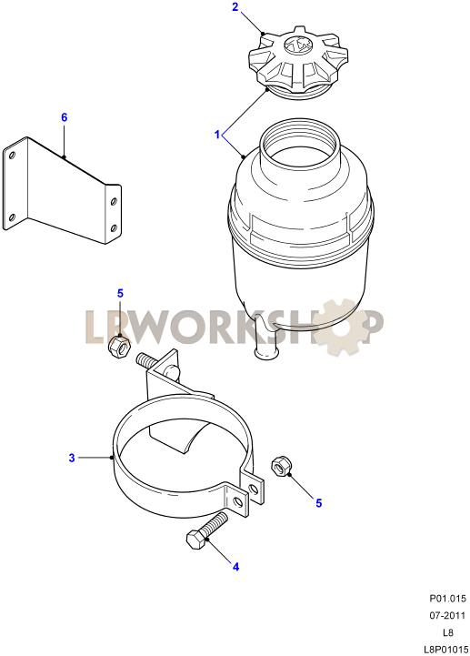 power steering reservoir-plastic