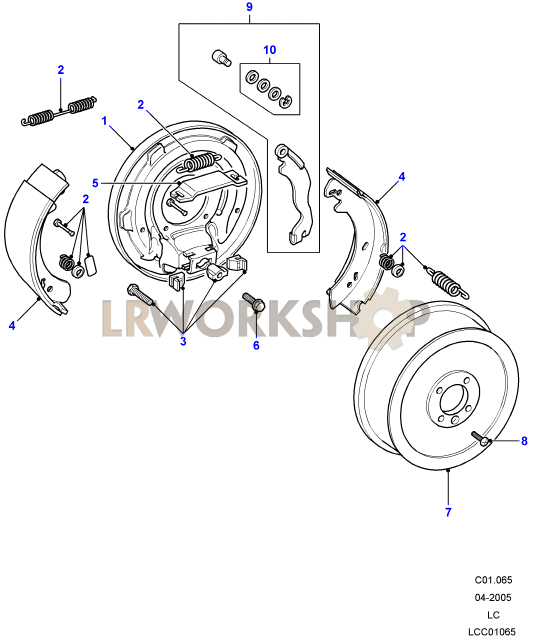 transmission brake - direct entry cable