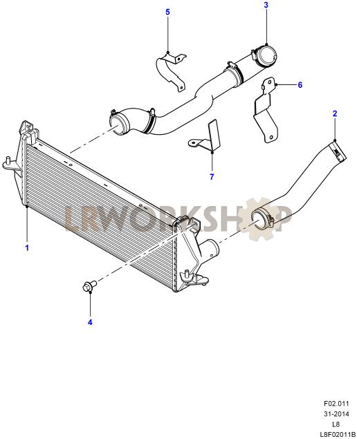 Intercooler Hoses - 2 2 Tdci