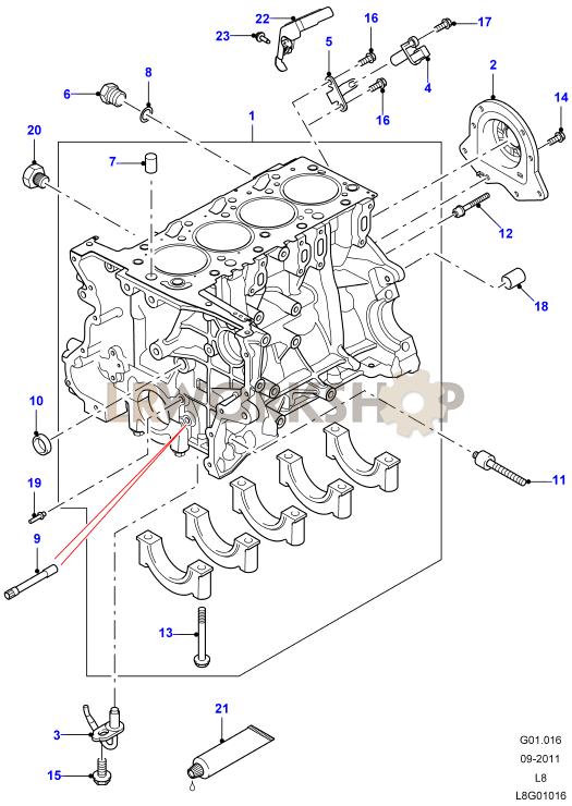 Cylinder Block - 2 2 Tdci