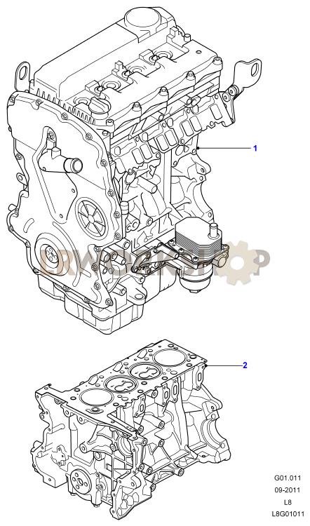Complete Engine - 2 2 Tdci