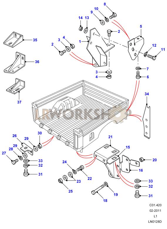 Rear Body Lower - Mountings - High Capacity Pickup - Hcpu
