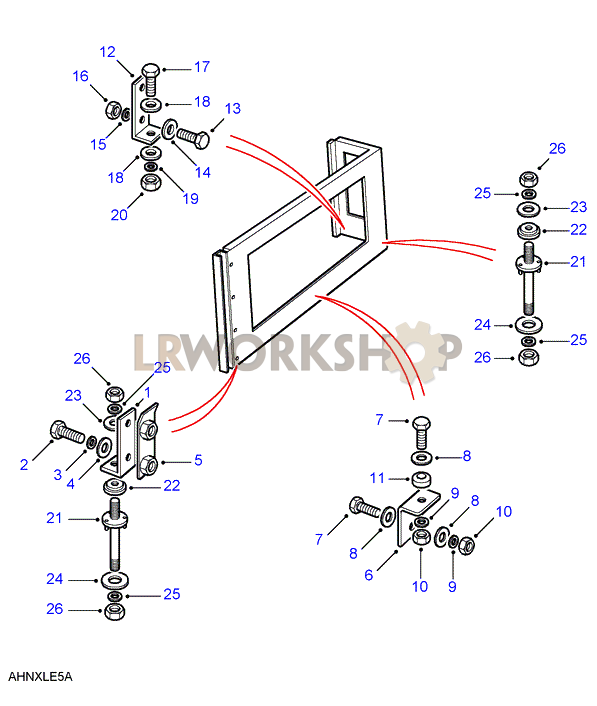 rear body upper fixings find land rover parts at lr workshop land rover series 2 engine diagrams