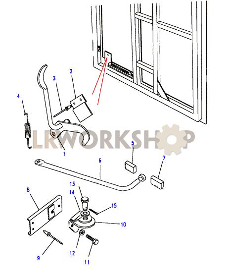 rear end door check mechanism - lever type