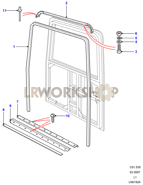 rear end door seals