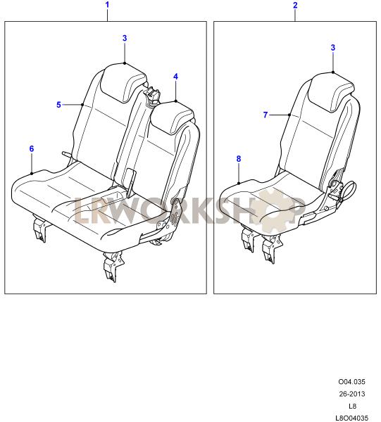 Middle Row Seats Part Diagram