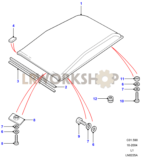 saab 900 roof wiring diagram roof assembly - find land rover parts at lr workshop roof assembly diagram #7
