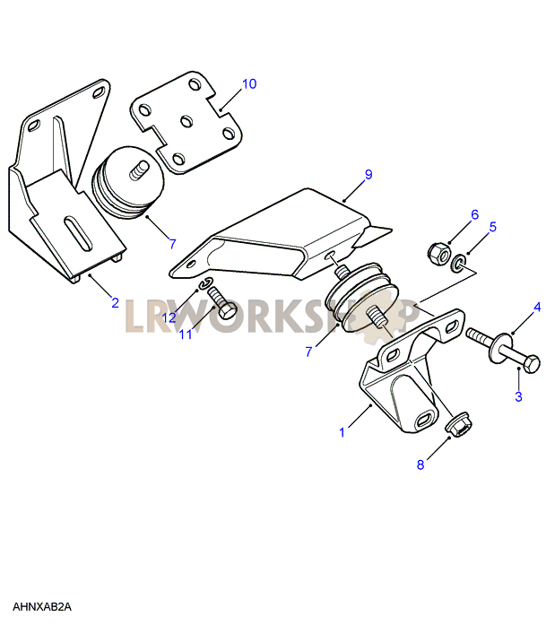Gearbox  Transfer Box Mount