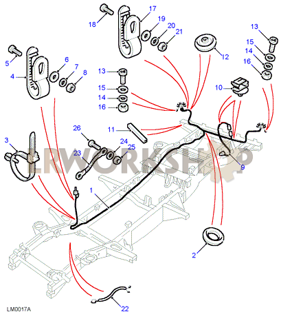 land rover defender 90 rear wiring diagram chassis loom harness find land rover parts at lr workshop  chassis loom harness find land rover