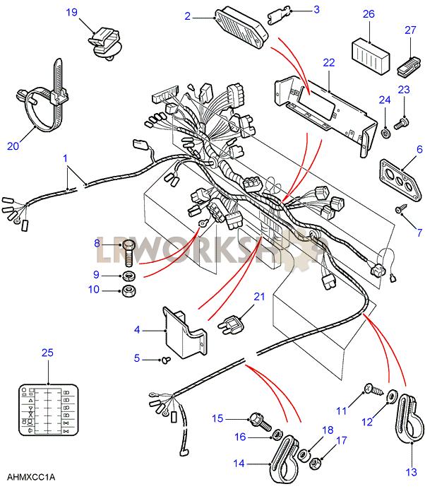Batteries & Harnesses Diagrams - Land Rover Workshop: land rover defender tdci wiring diagram at sanghur.org