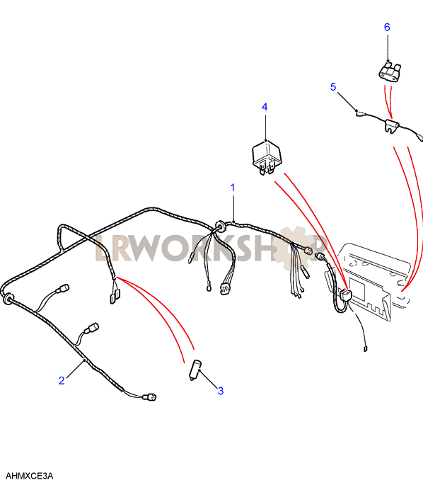 air con wiring harness - from ma962815