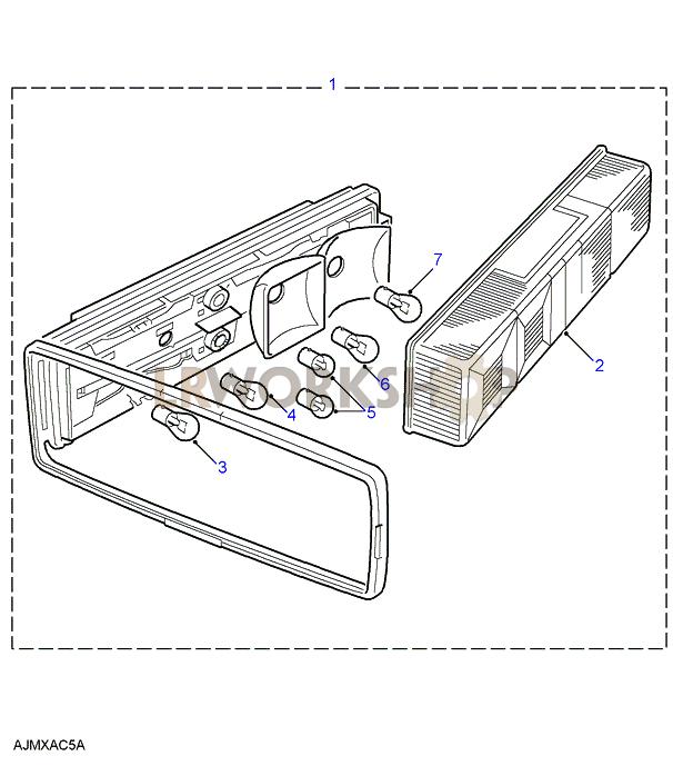 130 quadtech rear lamp - svo