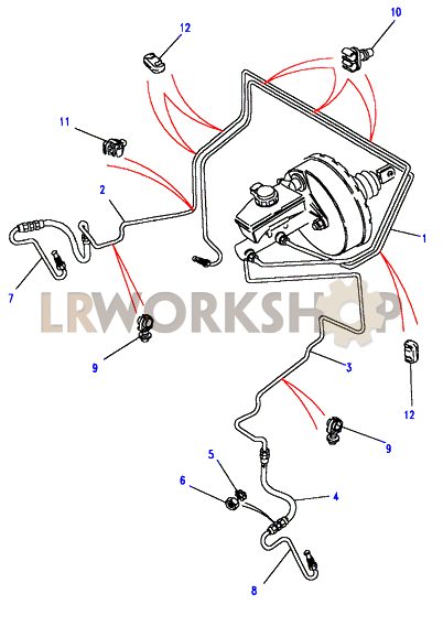 Front Brake Pipes