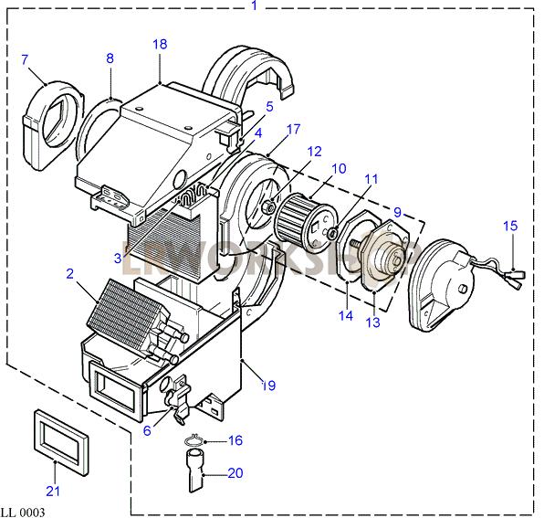 evaporator assembly - rhd - to wa159806