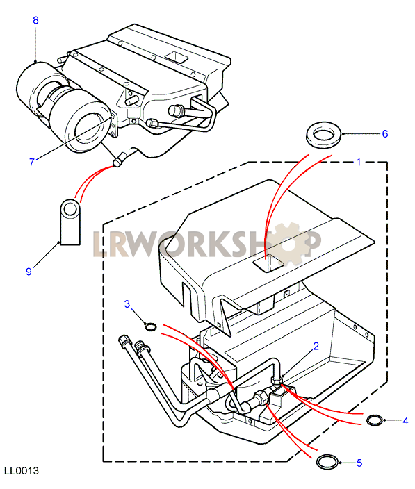 Land Rover Coil Cooling Partnumber Qgc500080: V8 50th Limited Edition