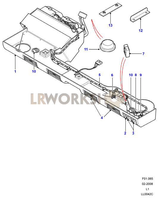 Facia Assembly Part Diagram: Land Rover County Ac Wiring Diagram At Johnprice.co