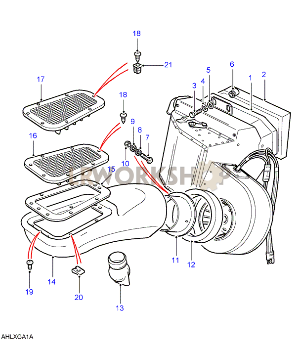 463_heater_assembly heating system diagrams land rover workshop