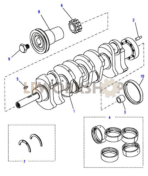 crankshaft  u0026 bearings - 2 25 petrol
