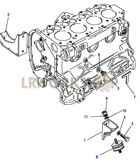 engine mountings - 2 25 petrol
