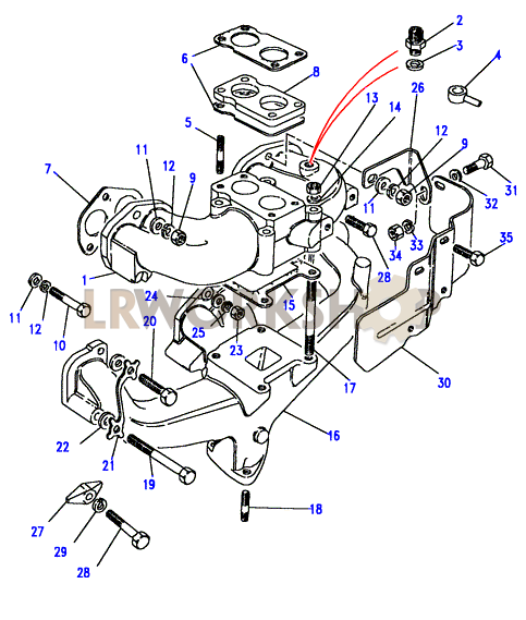 Land Rover Série 2.25 l 4 Cylindre INLET MANIFOLD GASKET 564307