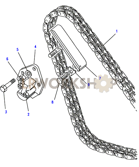 timing chain  u0026 mechanical tensioner - 2 25 petrol