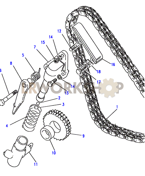 timing chain  u0026 spring tensioner - 2 25 petrol