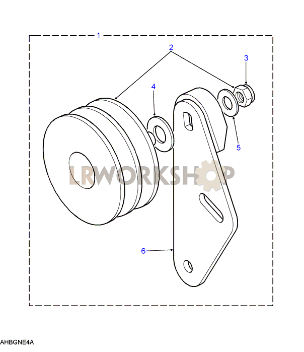air conditioning idler pulley