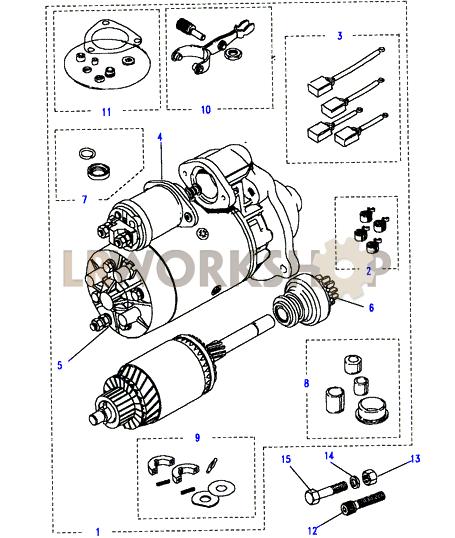 starter motor-lucas-type m113 - 2 5 na