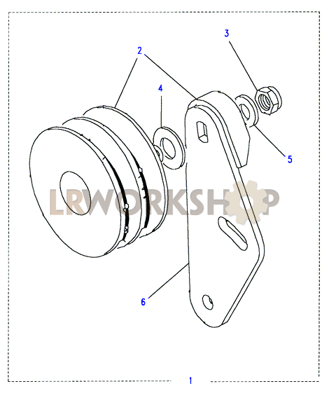 air conditioning idler pulley - 2 5 td