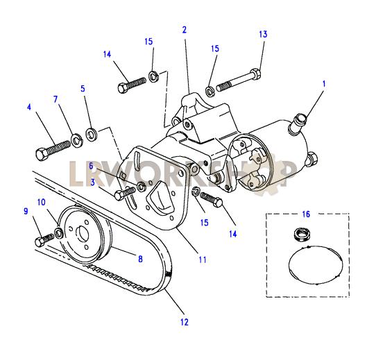 Power       Steering       Pump     25 TD  Find Land Rover parts at LR Workshop