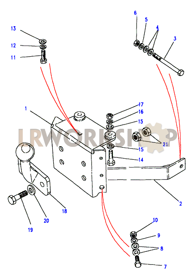 Towing Equipment - Towing Drop Plate With Tow Ball - To Va138479 - Except Hicap