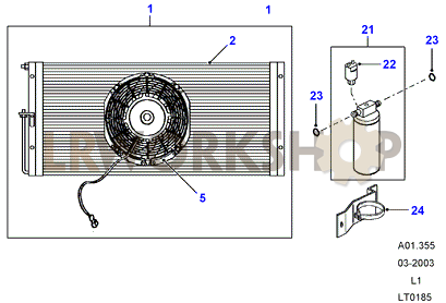 Air Conditioning  Condenser  300Tdi AUS   From MA939976