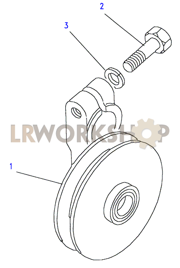 air conditioning idler pulley - 200tdi