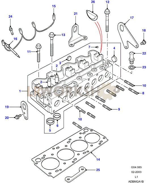 cylinder head - 200tdi - land rover workshop trx400ex engine head diagram #8