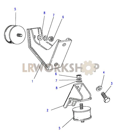 engine mountings - 200tdi