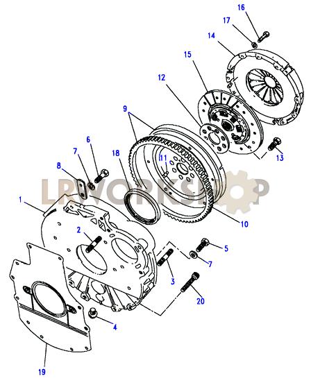 Flywheel & Clutch Part Diagram