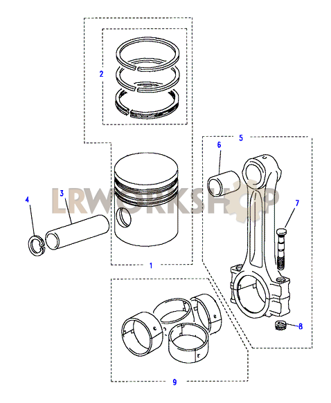 Piston  Connecting Rod  U0026 Bearings - 200tdi