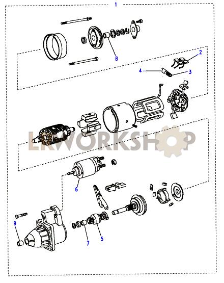 Starter Motor Bosch - 200tdi