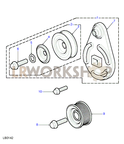 ERR7295 Land Rover Defender 300 Tdi Air Conditioning Belt Idler Pulley