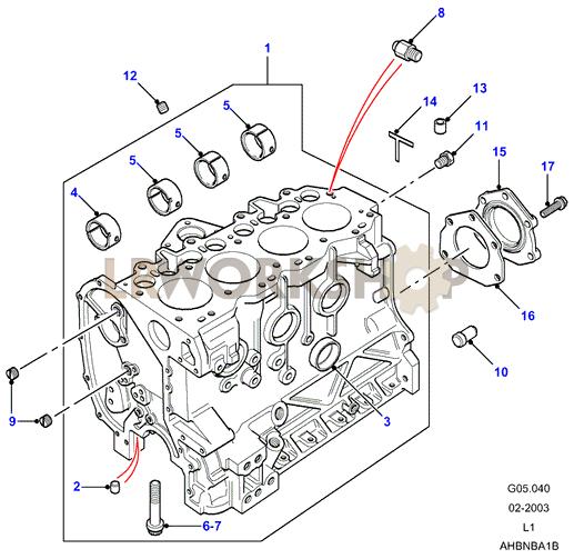 cylinder block - 300tdi