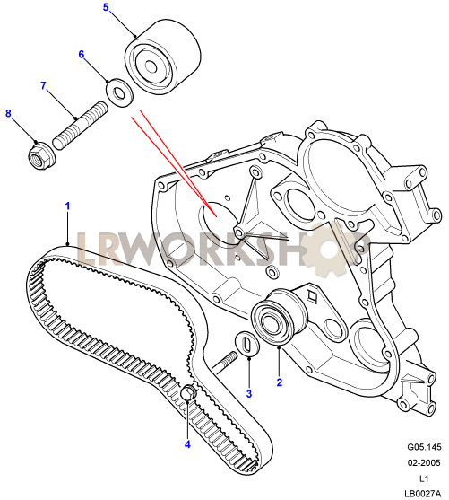 ford taurus engine belt routing diagram timing belt & tensioner - 300tdi - find land rover parts ...