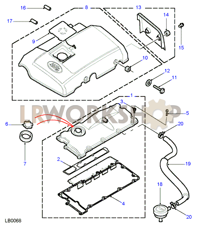 cam cover - td5 - find land rover parts at lr workshop 2001 range rover fuse box