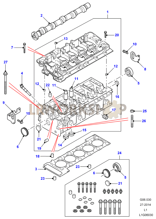 Cylinder Head - Td5 From 2a622424