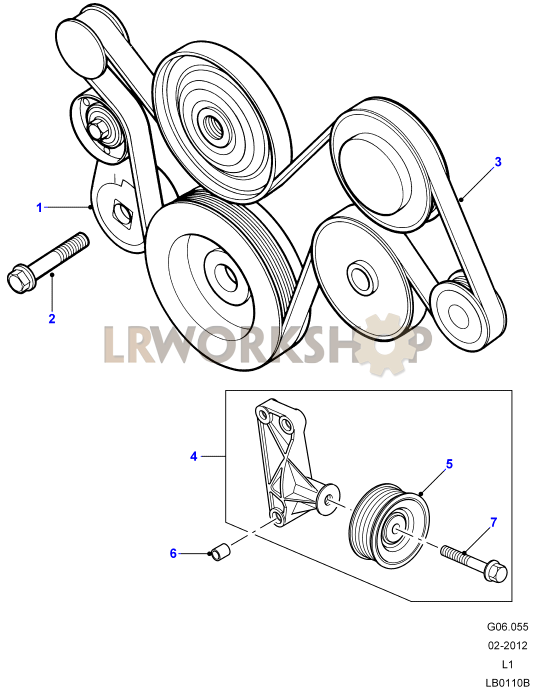 drive belt part diagram