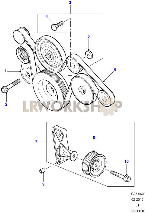 Drive Belt Part Diagram