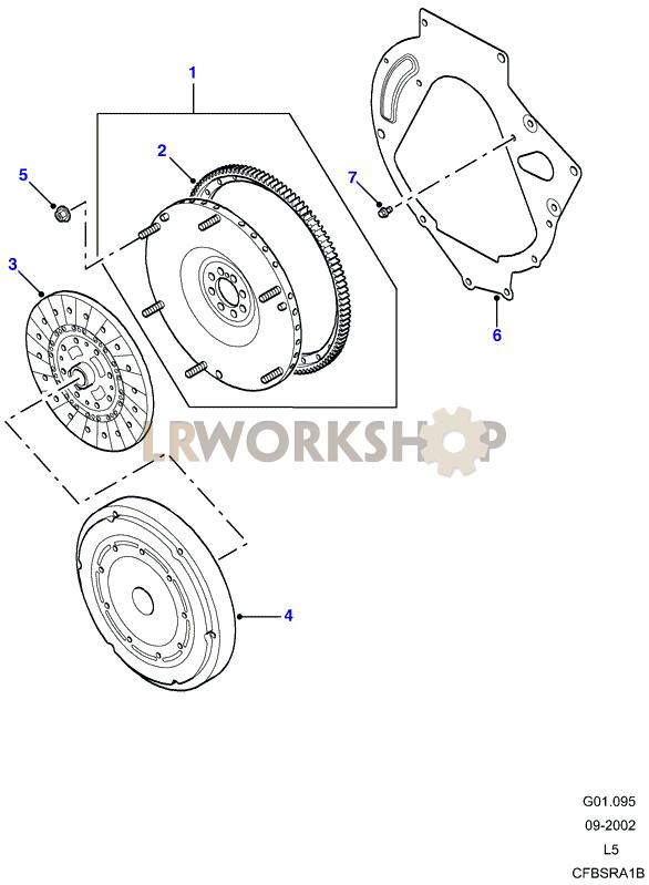 flywheel manual td5 find land rover parts at lr workshop. Black Bedroom Furniture Sets. Home Design Ideas