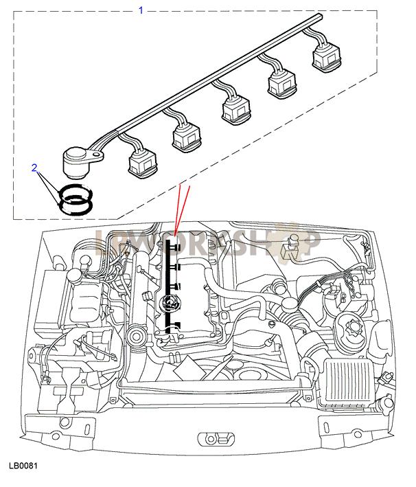 harness fuel injector - td5