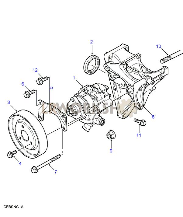 Power Steering Pump     Td5     Find    Land       Rover    parts at LR Workshop